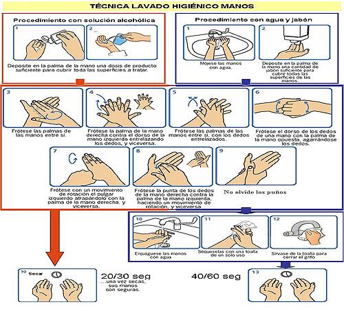 Consulta estas instrucciones para lavarse las manos correctamente.
