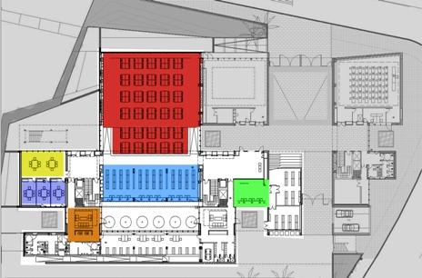 Plano planta baja biblioteca campus gandia crai upv for Planos de bibliotecas