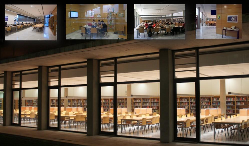 Imágenes del interior de la biblioteca