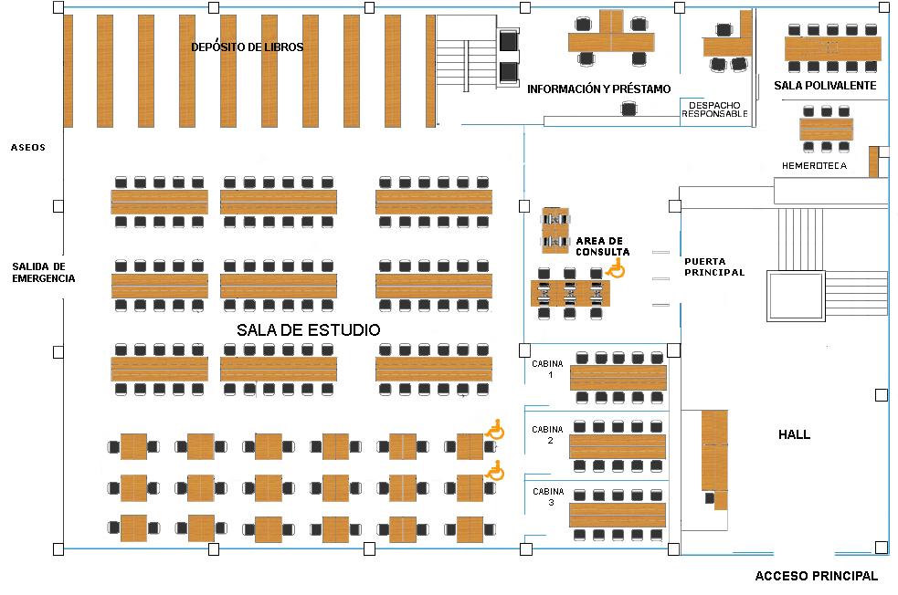 Biblioteca de la ets de ingenieros de caminos biblioteca for Planta arquitectonica biblioteca