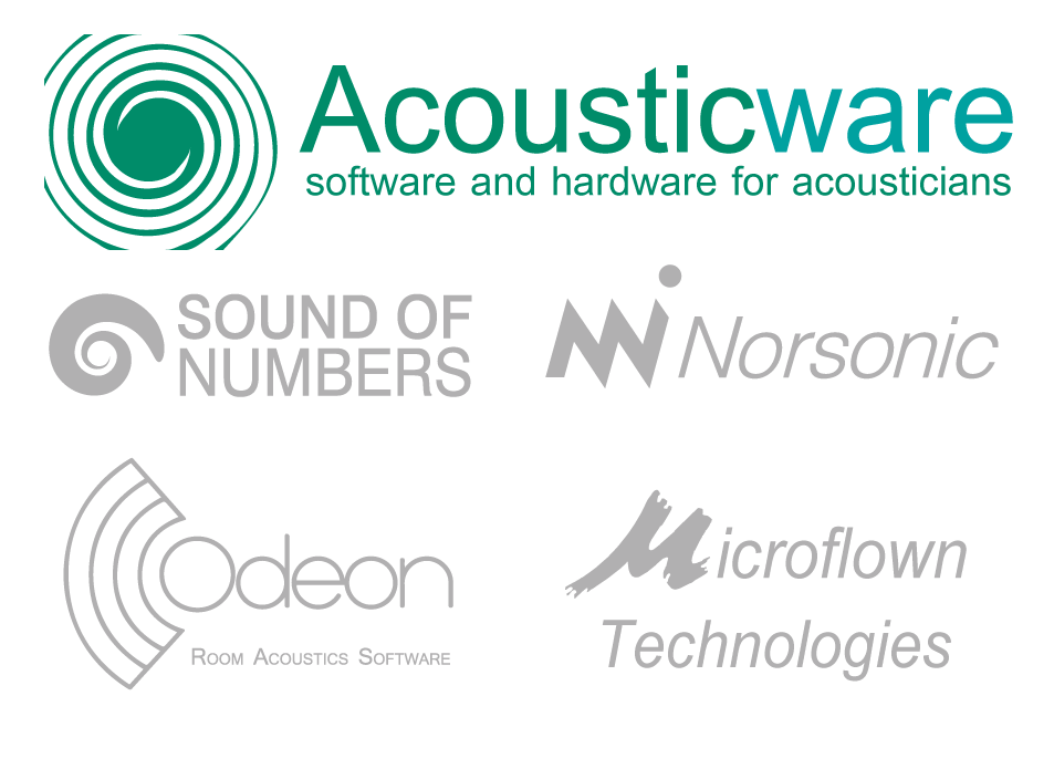 Acousticware  - Software for acousticians (Sound of Numbers, SONarquitect, Odeon, Microflown, Norsonic...)
